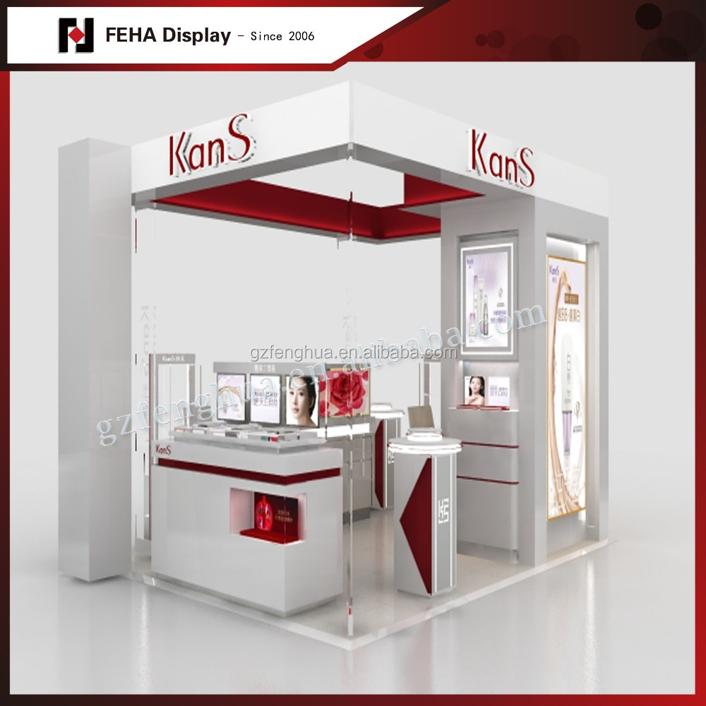 Modern Cosmetic Store Furniture / Cosmetic Shop Interior Design / Vivid Style Makeup Kiosk