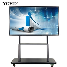 YCHD 86 pollici da pavimento materiale didattico intelligente bordo digitale 10 punti touch screen IR lavagna interattiva