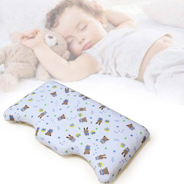 2017 Wholesale super soft memory foam neck support children baby sleeping pillow