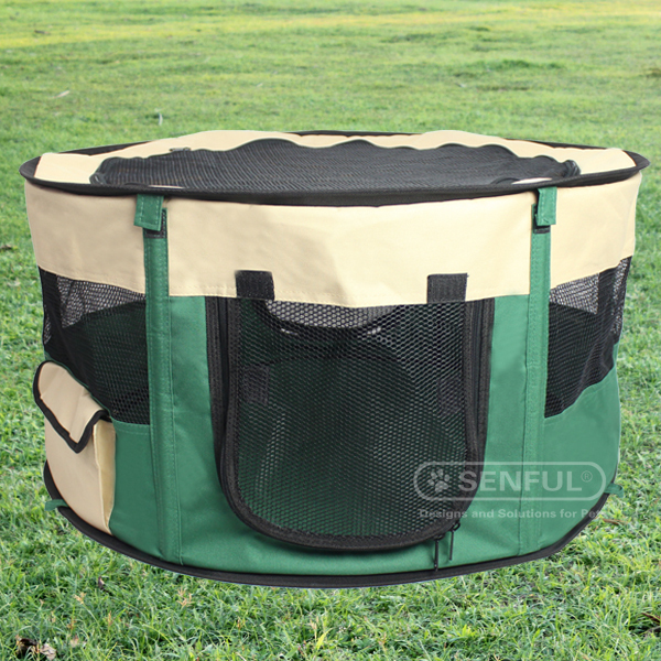 Folding Dog Playpen , Pet portable playpen Pet outdoor playpen