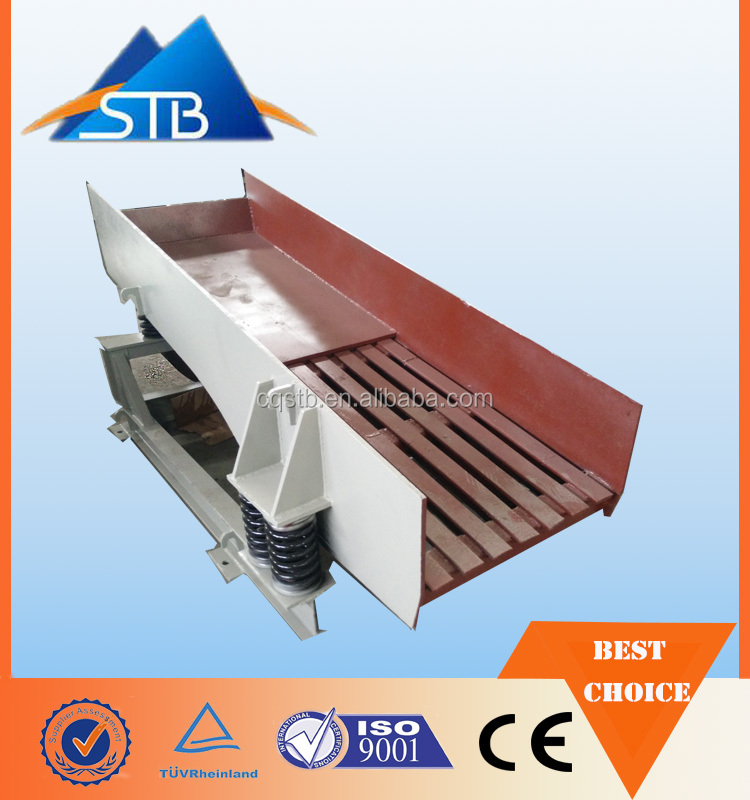 small vibrating plate feeder 11kw-15kw for small quarry/mining