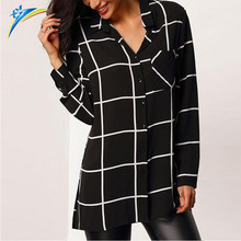 ebay alibaba new arrival good quality wholesale woman black tops long sleeve ladies blouses and tops