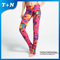 hot sexy yoga clothes ladies yoga pants/capris ladies gym fitness wear