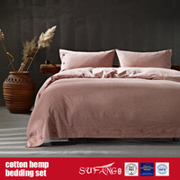 Cotton Hemp Bed Linen for Home Luxury Hotel Use