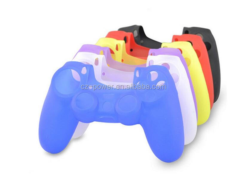 Hot selling colorful clear silicone case for ps4, for sony playstation 4 prective case