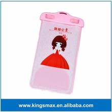 Cute Ladies & Girls Swimming Phone Case Waterproof Mobile Cover Shell for iPhone 5/5S/SE