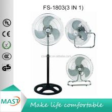High Air Flow Metal Blades Big Motor cheap price 18 Inch Industrial Fan 3 in 1 (Stand / Wall / Floor Fan)