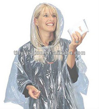 Clear Hiking Biodegradable Emergency Rain Poncho