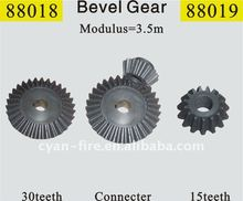 Bevel gear for corn sheller