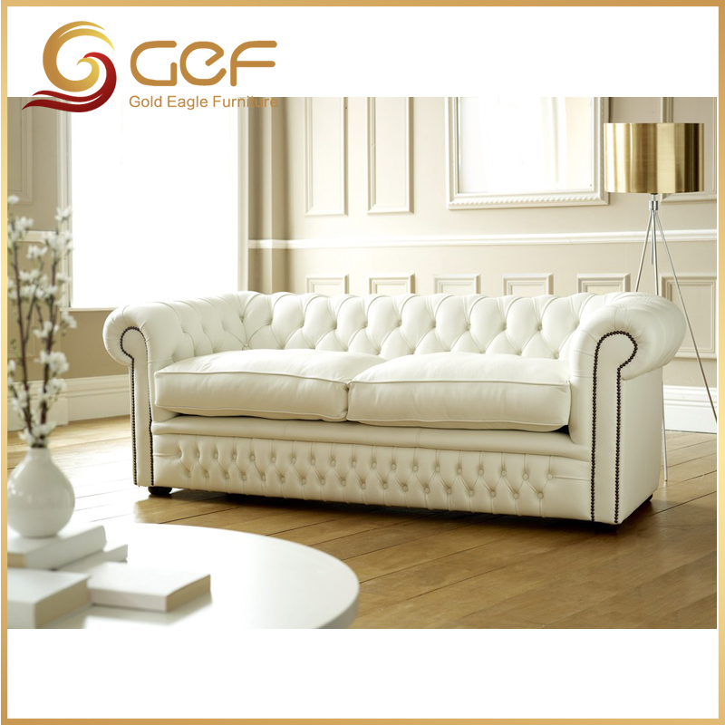 Living room furniture chesterfield modern sofa leather