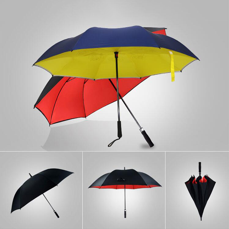 High Quality Custom Classic Uv Protection Double Canopy Golf Umbrella