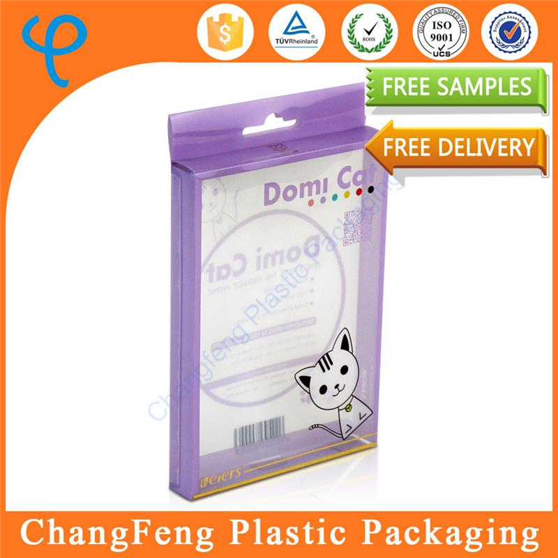 Customized plastic collapsible box packaging with hager