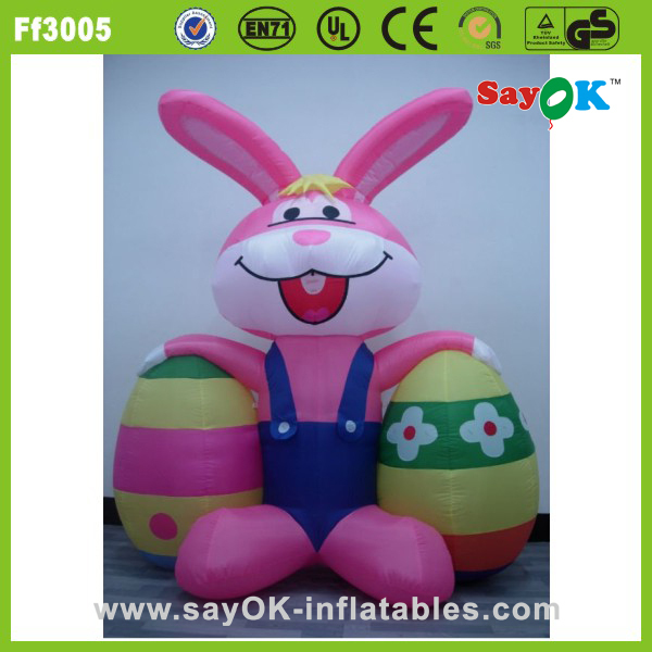 indoor giant led inflatable easter eggs inflatable easter bunny for party