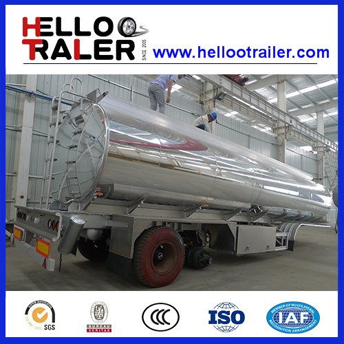 45000L fuel tanker semi trailer tri-axle carton steel oil trailer