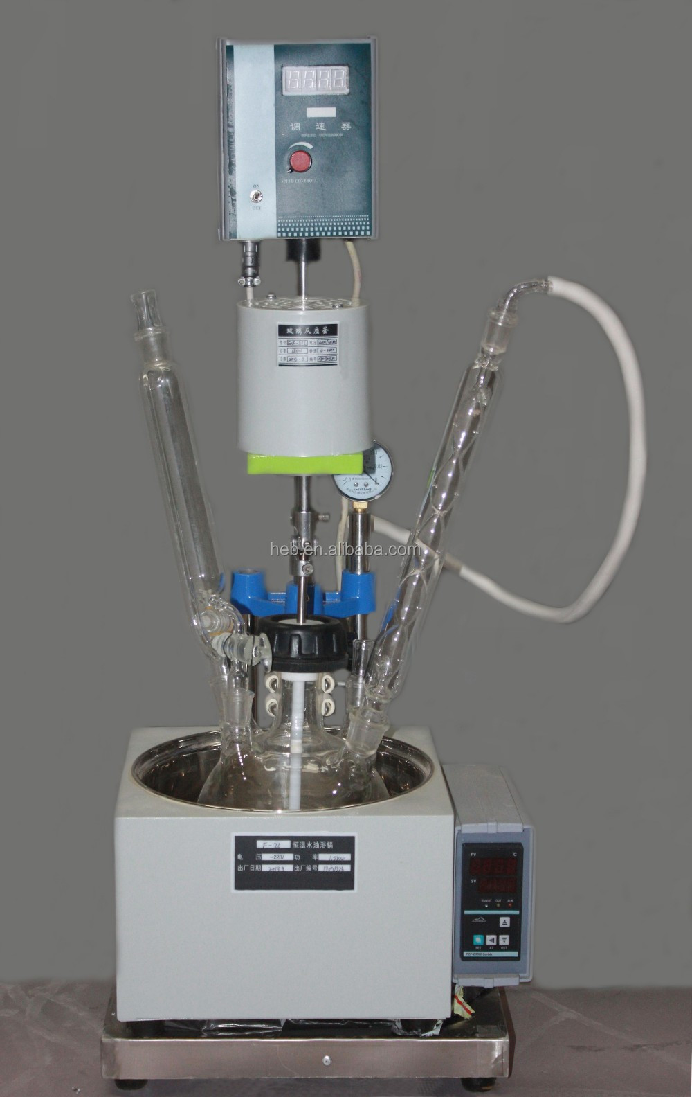 2L Single Layer Glass Reactor