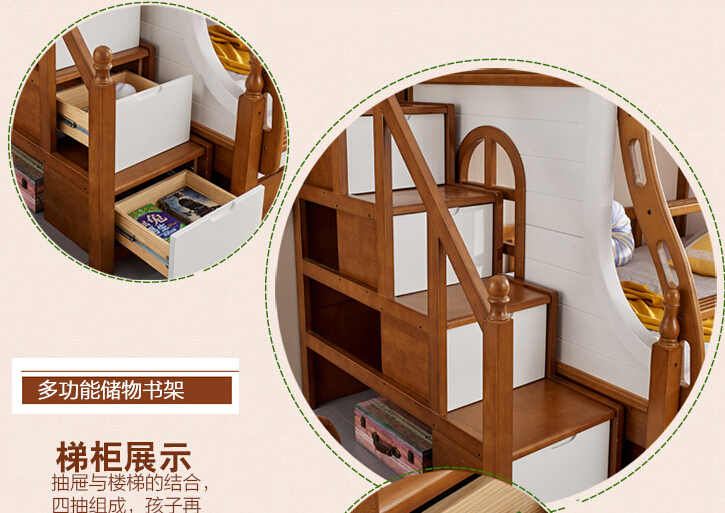Solid wood bed room furniture S903