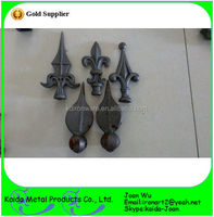 Various Designs Wrought Iron Spearhead For Gate, Fence Wholesale