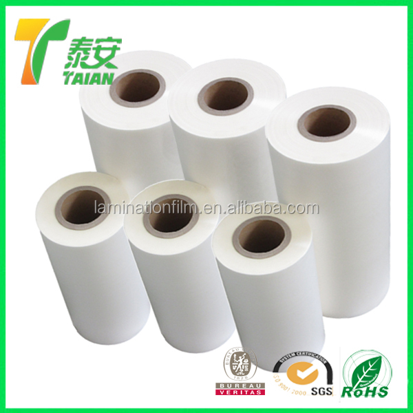 Super Bonding Pet Glossy Thermal Lamination Film For Printing Of Paper Products
