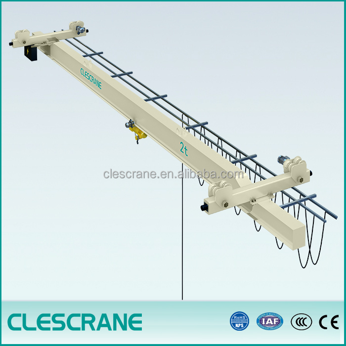 Clescrane CHX series hanging single beam bridge crane 2.5ton