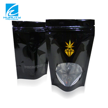 Stand up food zipper plastic herb packaging bags