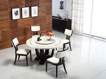 European Stone top wooden base dining table