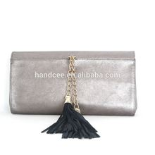 Top brand high-end silver handbags ladies 2015 luxury pu leather