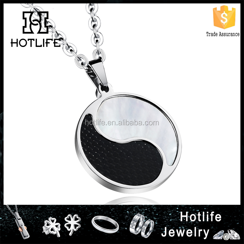 2016 new design fashion jewelry nickel free chinese ancient culture yin yang pendant