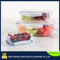 Hot deal borosilicate Glass food Storage Container Rect. - Set of 6 piece