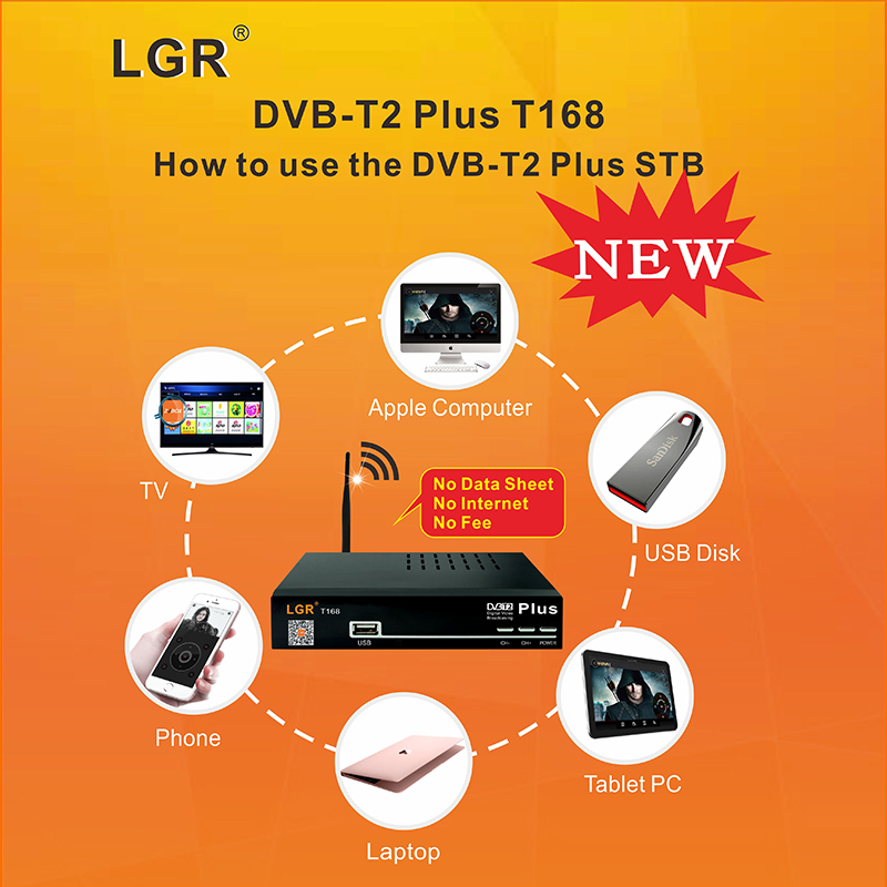 hot selling dvb t2 plus use for tv and smart android & ios device