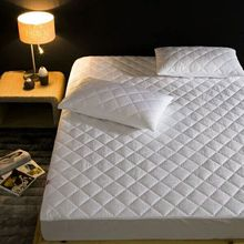 White line wave polyester pongee waterproof quilted mattress bug protector