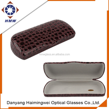 PU Leather Clam Shell Hard Case Box Holder for Reading Glasses