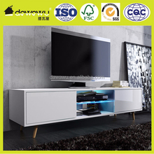 Scandinavian Style TV Stand Cabinet TV Unit Lowboard Free LED Lighting