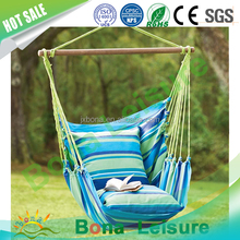 2017 New Premium Amazon Wholesale Outdoor comfortable hanging Cotton Canvas Portable Camping hammock Chair Swings
