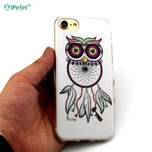 OEM Custom logo 3D sublimation TPU soft silicone back case cover for iPhone 7