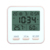 Rose gold digital  LCD  clock thermometer hygrometer with date  For room DTH-129