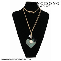 2017 leaf alloy pendant round turquoise jade latest design fashionable jewelry