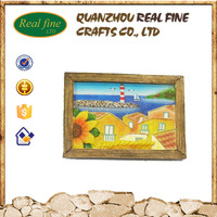 Custom design 3d souvenir resin fridge magnet from different country landscape scenery