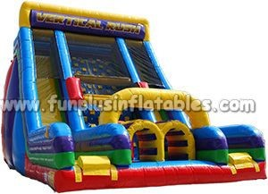 factory direct price inflatable slide with double lane F4001