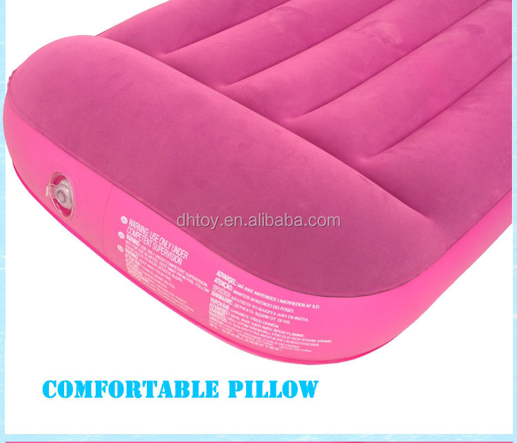 cheap flocking inflatable plastic air mattress