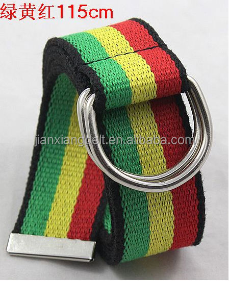 for 2014 womens mens canvas cotton fabric polyester D-Ring jeans webbing belts