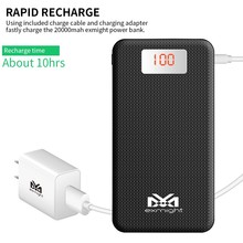 biggest capacity High Capacity Power Bank 20000mAh With LED Torch for iPhon7/plus