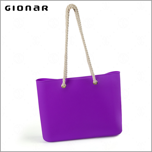 Stylish Women Colorful Fashion Beach Shoulder Bag Silicone Handbag