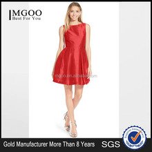 MGOO High End Custom Red Color Prom Dress For Women Bow Back Flare Dress Open Back A Line Christmas Dress