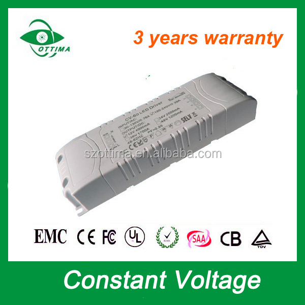 Manufacturer CE RoHS constant voltage single output switch mode power supply 12v 5A 60W non waterproof