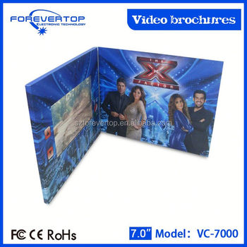 Artifical type new invitation card recordable video greeting cards