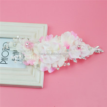 High Quality Pageant Natural Flower Tiara To Decorative Girls Dress