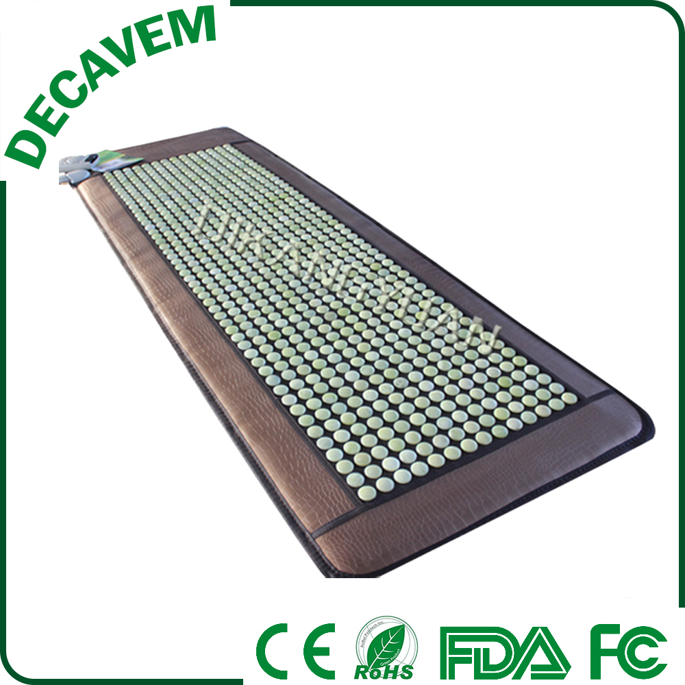 Decavem korea far infrared back massage mat /heat health care jade mattress