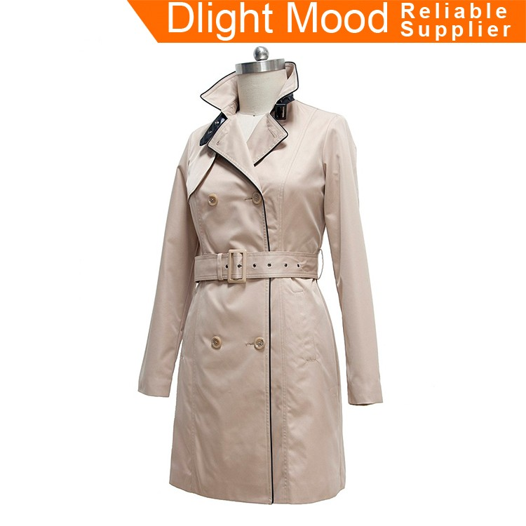 Long ladies trench coat,european style trench coat ,trench coat for woman