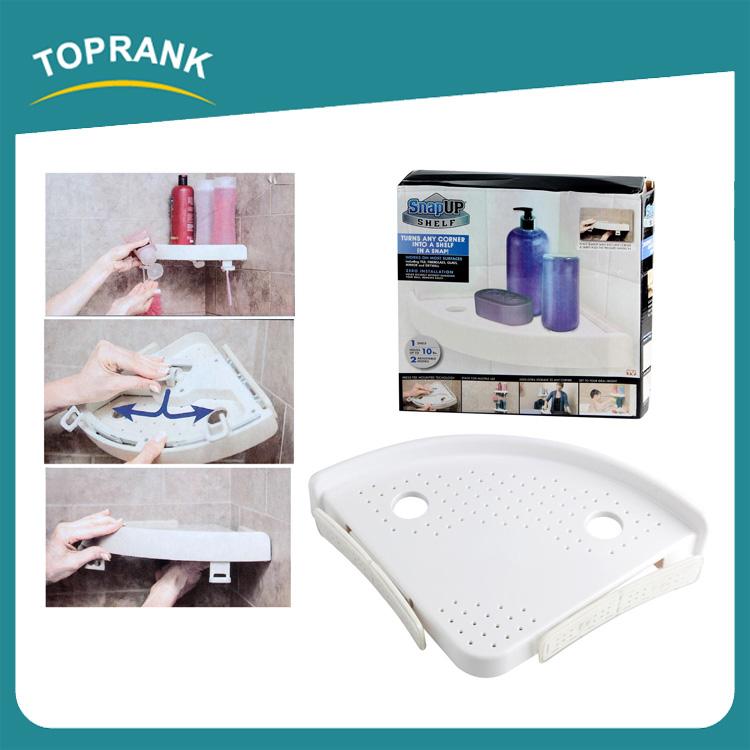 Toprank plastic hanging snap up shelf bathroom shower rack - Snap up shelf ...