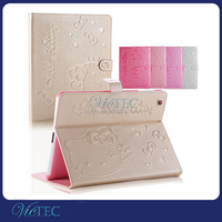 Top Quality Hello Kitty Leather Stand Protective Case for iPad ,for ipad mini 2 case
